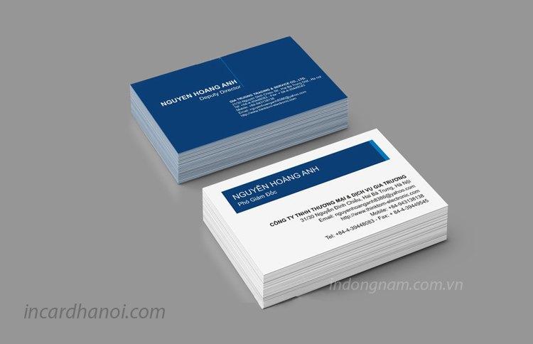in card visit với font chữ hợp lý