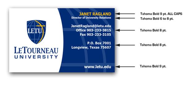 sử dụng font chữ trong thiết kế in card visit