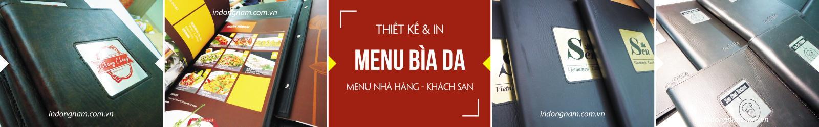 in menu nhà hàng làm menu bìa da
