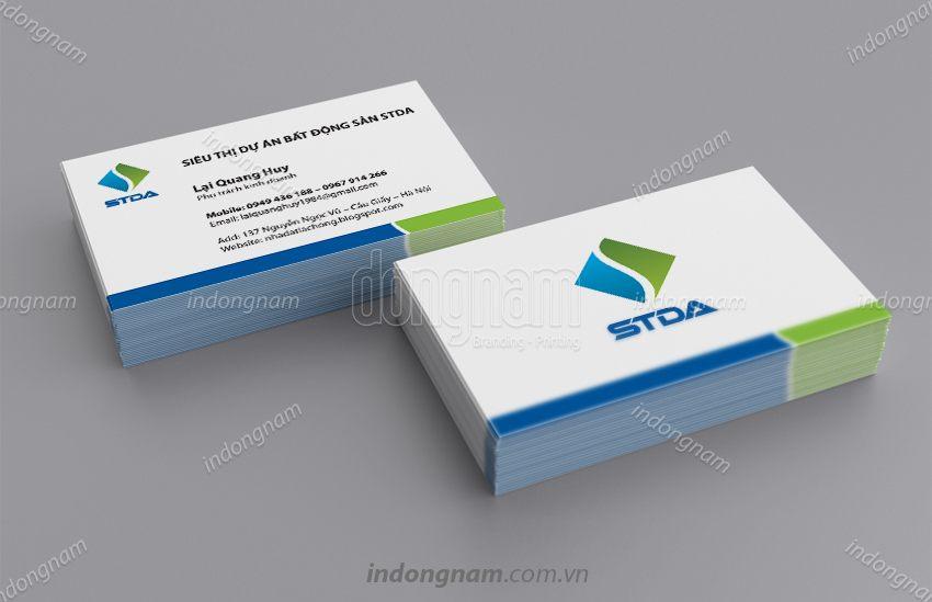 Mẫu card visit kinh doanh bất động sản