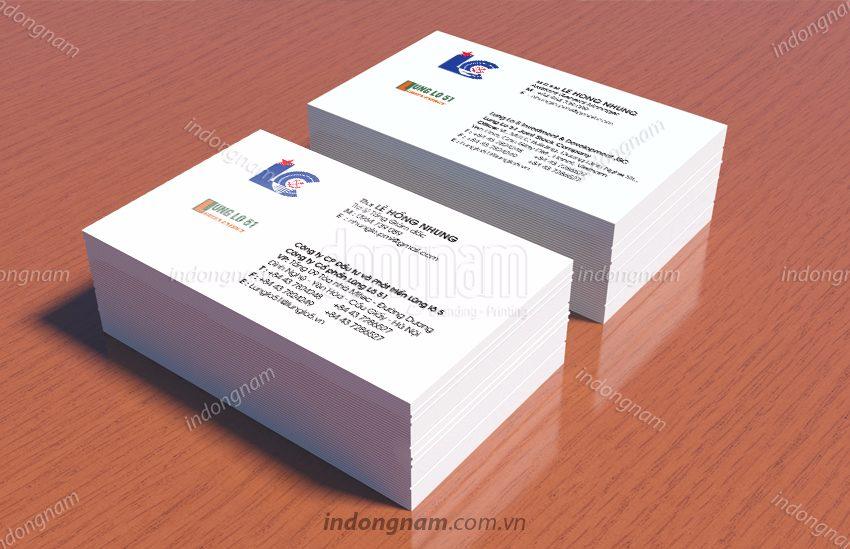 Mẫu card visit công ty xây dựng kiến trúc