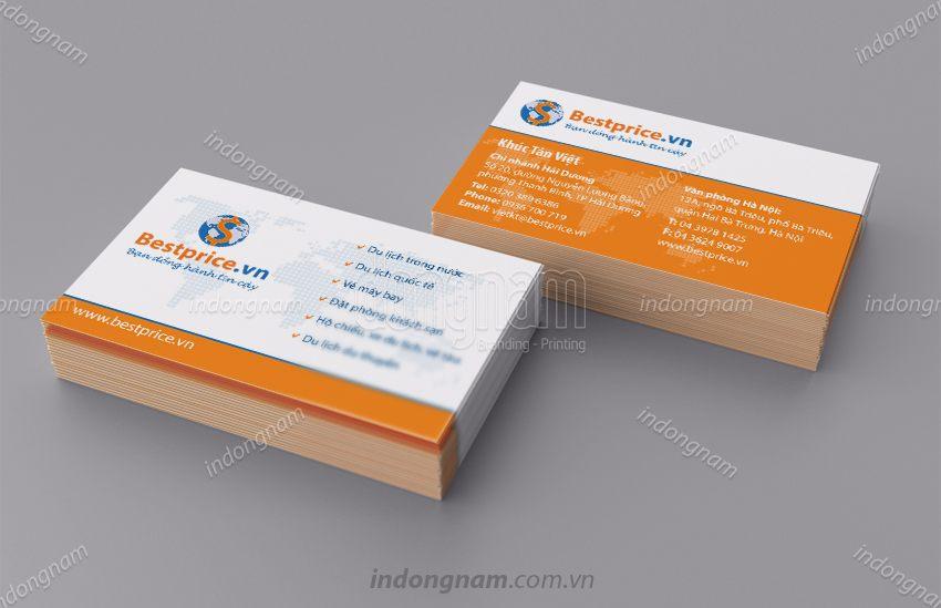 Mẫu card visit công ty Du lịch BestPrice