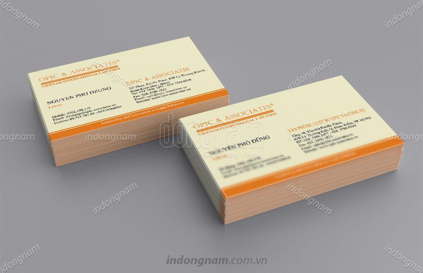 Mẫu card visit công ty Luật Optic