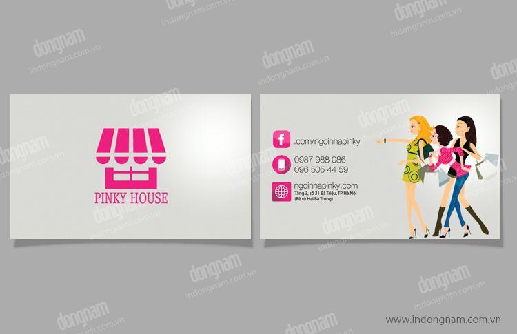 In card visit shop cửa hàng Pinky