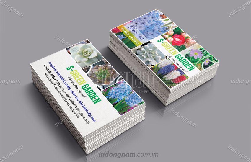 Mẫu card visit kinh doanh shop hoa cây cảnh