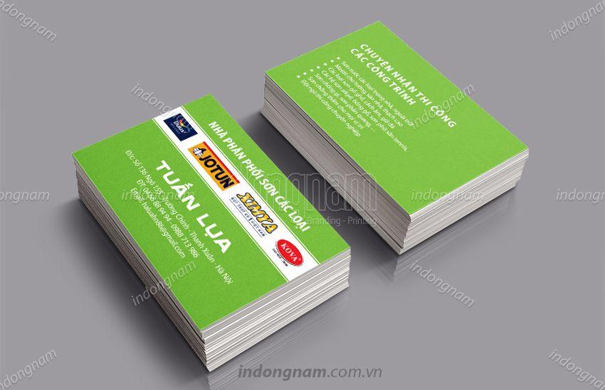 Mẫu card visit kinh doanh bán lẻ Sơn xây dựng