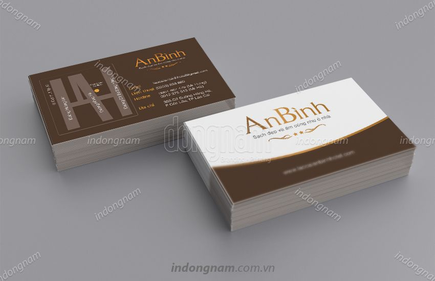 Mẫu card visit nhà hàng An Bình