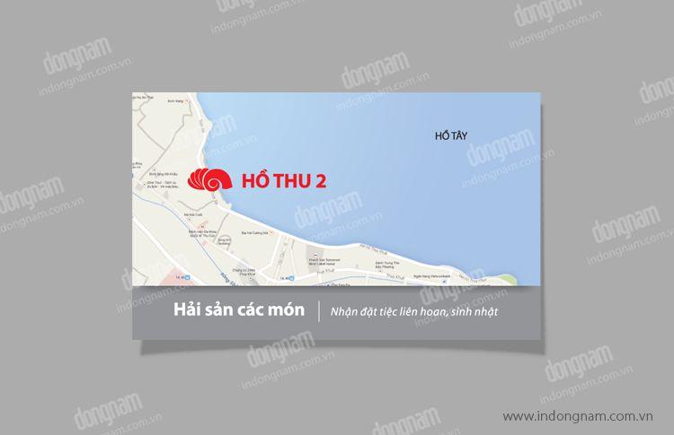 Mẫu card visit nhà hàng Hồ Thu