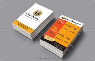 Mẫu card visit nhà hàng Chef Dung's