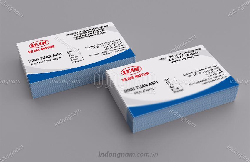 Mẫu card visit Veam Motor