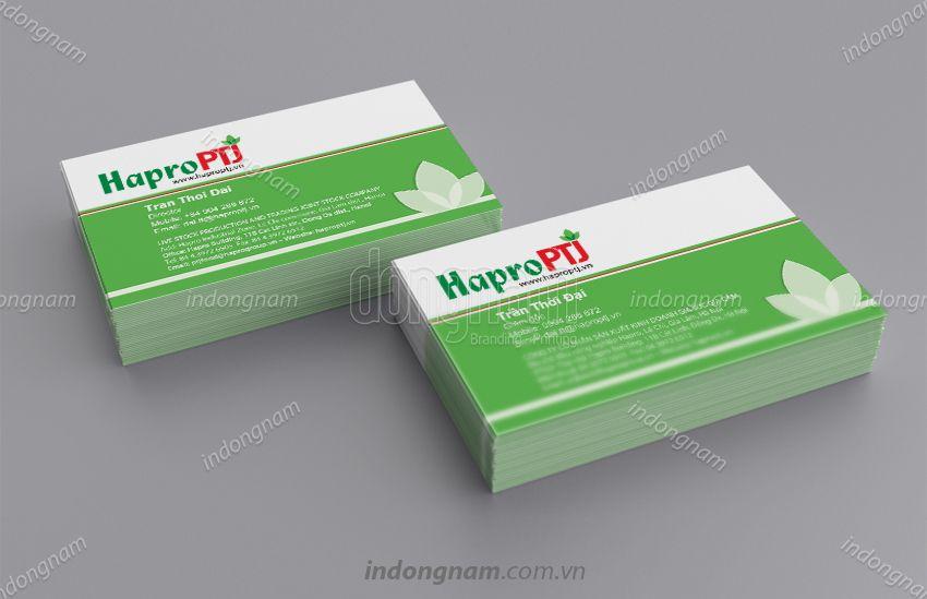 Mẫu card visit công ty Hapro PTJ