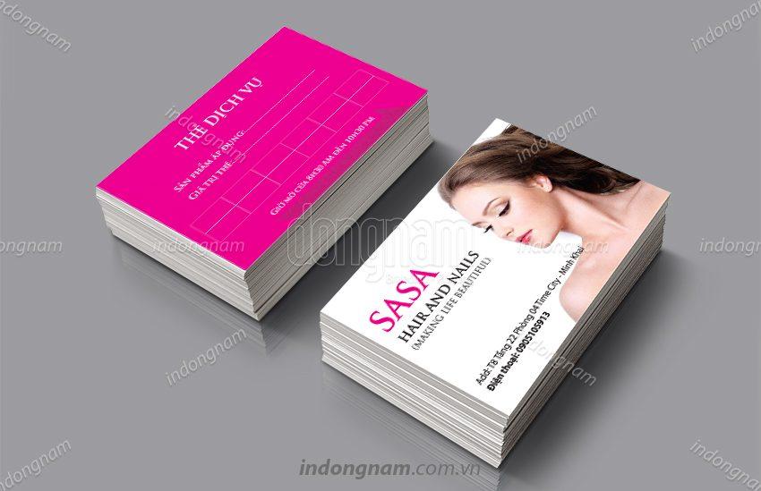Mẫu card visit trung tâm Spa SASA