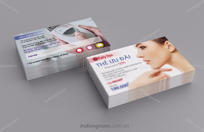 Mẫu card visit Ruby Spa