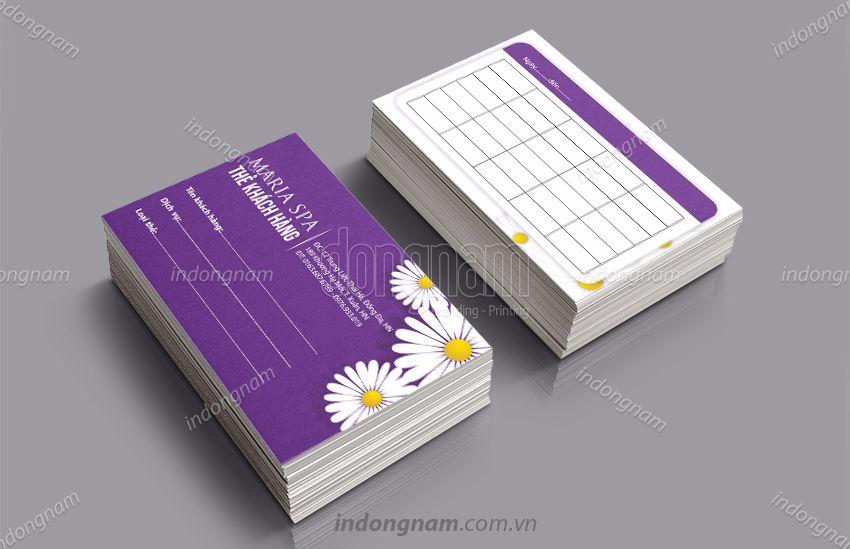 Mẫu card visit thẻ khách hàng Maria Spa