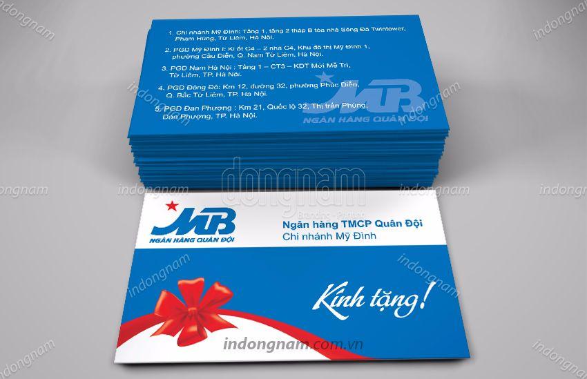 Mẫu card visit ngân hàng MB Bank