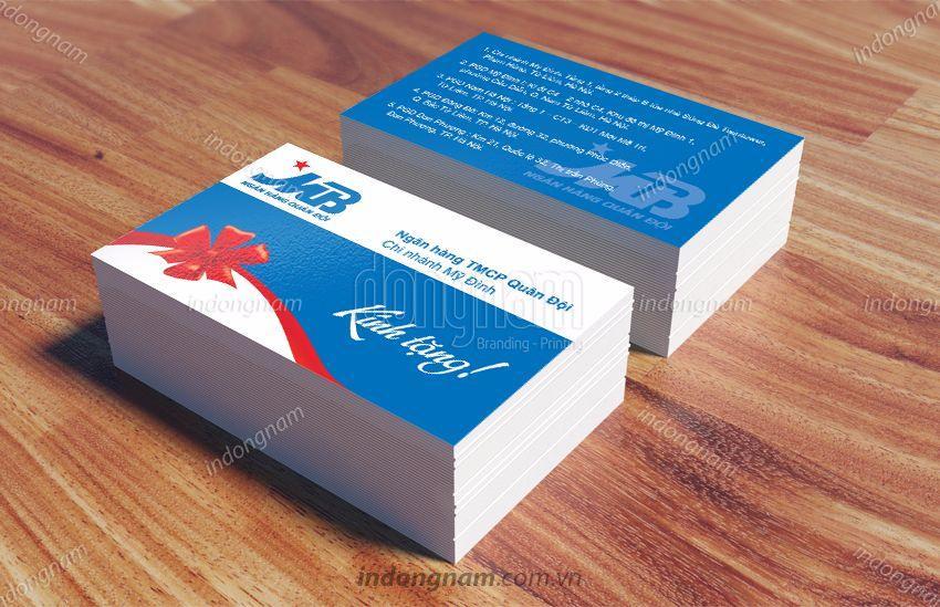 mẫu card visit ngân hàng tài chính