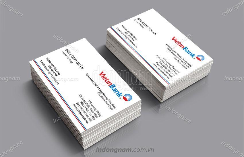 Mẫu card visit ngân hàng VietinBank