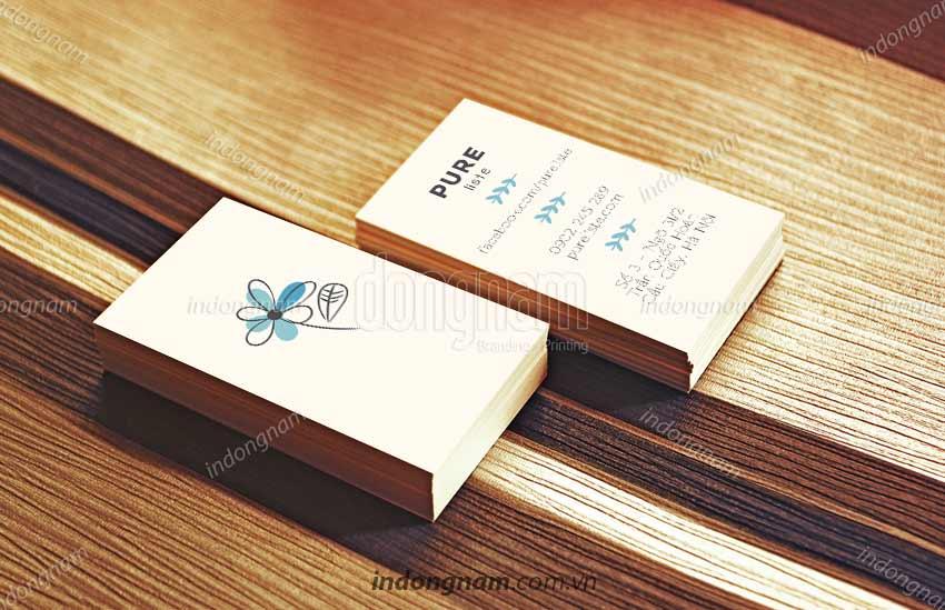 Mẫu card visit shop thời trang, quà tặng Pure