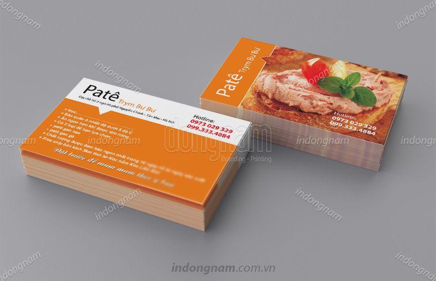 Mẫu card visit thực phẩm Pate