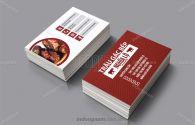 Mẫu card visit thịt trâu gác bếp