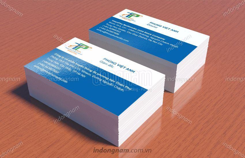Mẫu card visit truyền thông Thiên Phú