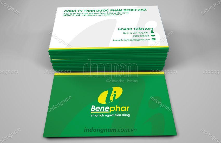 Mẫu card visit dược phẩm Benephar