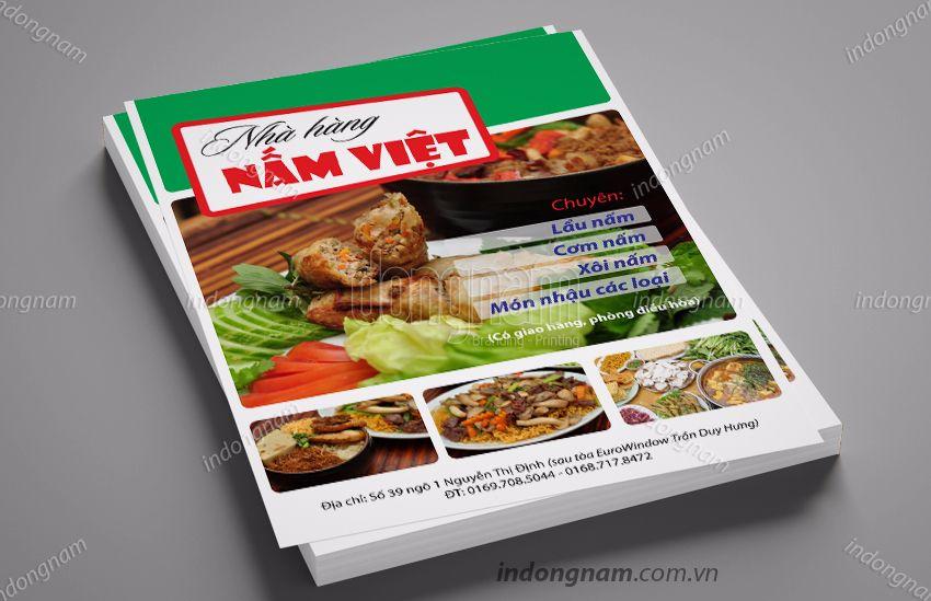 Mẫu tờ rơi nhà hàng Nấm VIệt