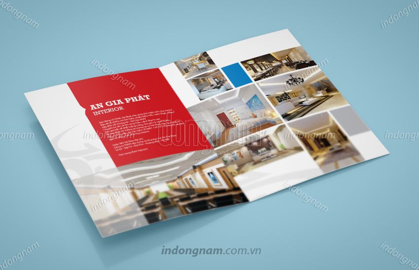 Mẫu thiết kế tờ rơi nội thất xây dựng kiến trúc