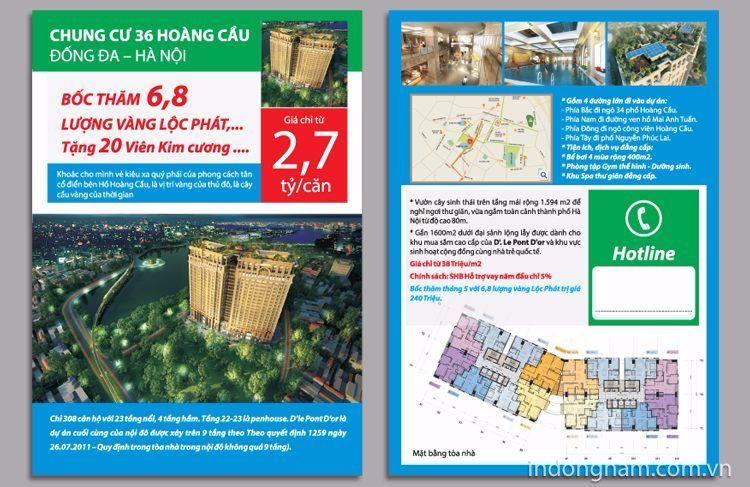 Mẫu thiết kế tờ rơi mua bán căn hộ chung cư