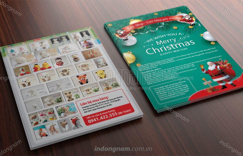 Mẫu thiết kế tờ rơi quà tặng noel Boby shop