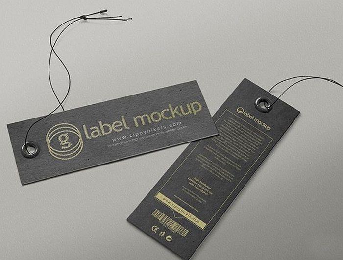 mẫu mác quần áo giấy nhám nền đen ore lỗ