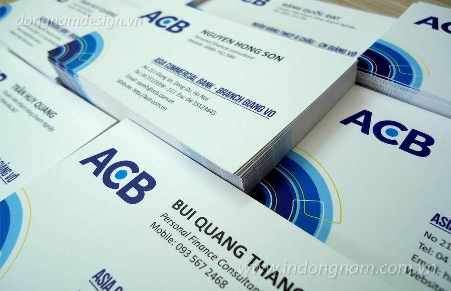 In card visit ngân hàng ACB