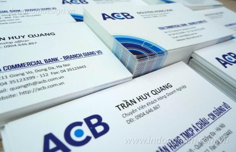 In card visit ngân hàng á châu ACB