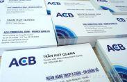 In card visit ngân hàng ACB mẫu mới