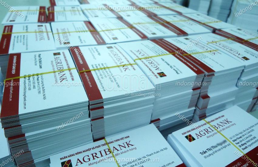 làm card visit ngân hàng agribank (ngân hàng nông nghiệp)