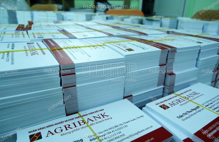 in card visit lấy ngay ngân hàng Agribank