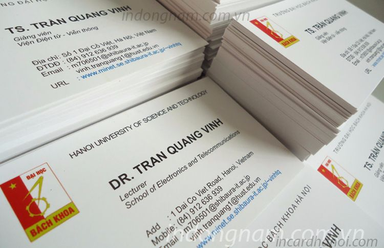 in card visit trường đại học bách khoa