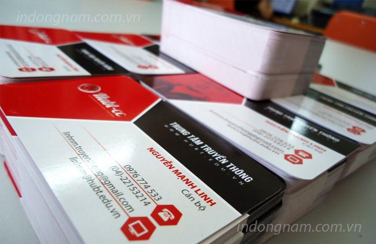 In name card trường đại học kinh doanh công nghệ