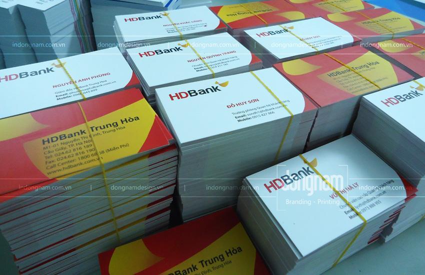 in card visit lấy ngay ngân hàng HD Bank