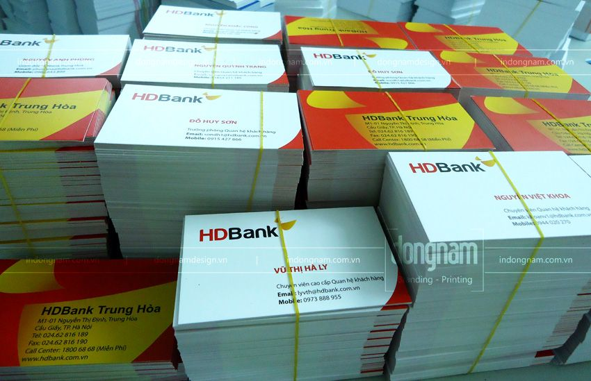 in card visit ngân hàng HD bank