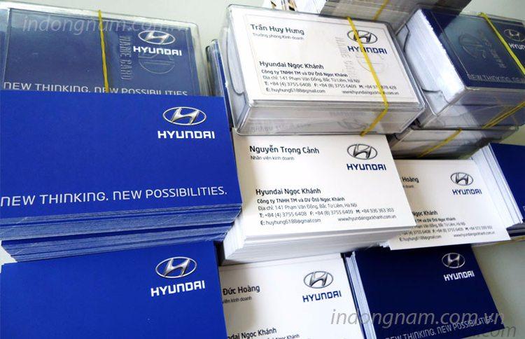in card visit lấy ngay Hyundai