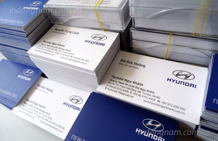 in card visit Hyundai