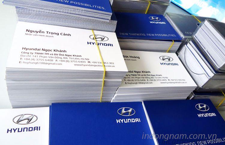 In card visit ô tô Hyundai