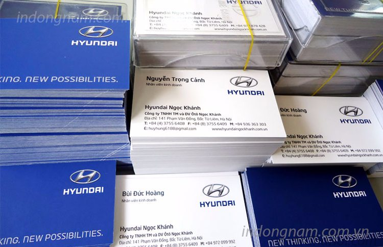 in name card Hyundai