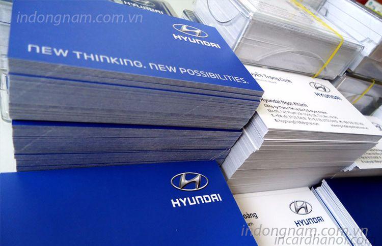làm card visit ô tô Hyundai