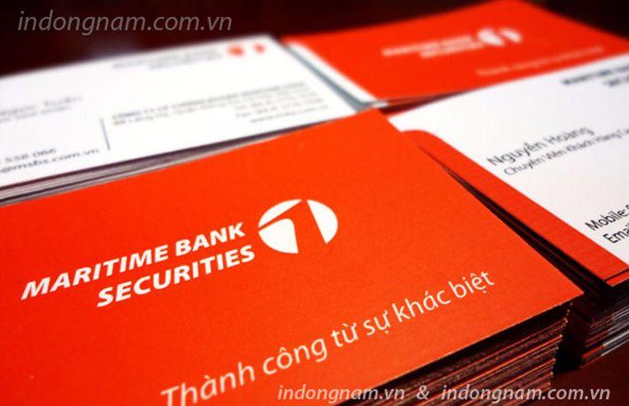 in card visit ngân hàng maritime bank