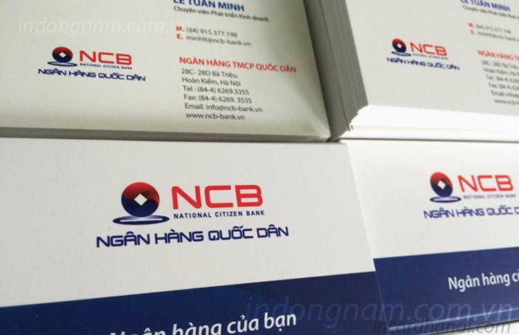 in card visit lấy ngay ngân hàng NCB