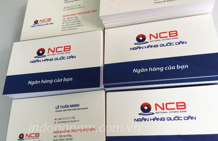 in name card ngân hàng NCB