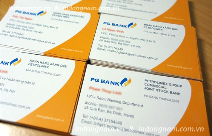 in name card ngân hàng PG Bank