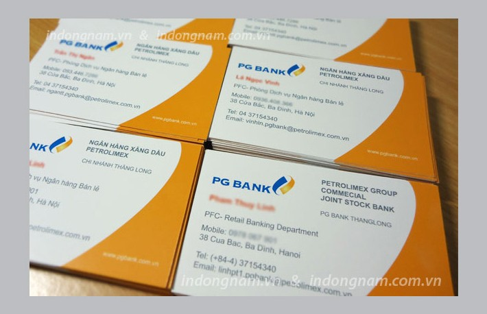 in card visit ngân hàng PG Bank